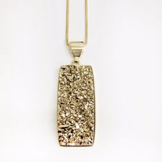 Druzy Necklace #All-Jewelry #Material_Goldplated24K #Pre-Order