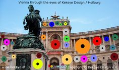 Hofburg Wien, Vienna in Dots Design / Photo © Kekeye Design e. Dots Design, Vienna, Statue Of Liberty, Eyes, City, Blog, Travel, Liberty Statue, Voyage