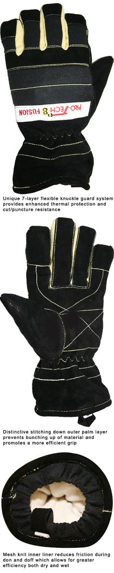 Firefighting professionals shop for helmets, flashlights, boots, badges and shields at TheFireStore.com - Pro-Tech 8: Fusion Structural, Wildland and Extrication Firefighting Glove, NFPA