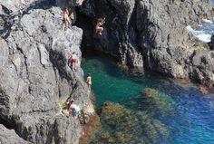 Cliff jumping in Monterosso al Mare. #Cinque #Terre - RentVillas.com