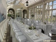 Ivory organza - Orangery Buxted park