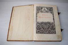 Antique Russian Slavic Church Relics Gospel Prayer Huge Book 17 Cen Saint Menas #2ndEmpire