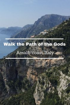 An ancient mule track 500 m above sea level, stunning views of the Amalfi coast, terraces of lemon groves & vineyards drop from cliffs to the sea. TIPS for the walk.