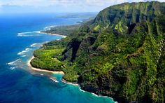 Ke'e Beach. I've been here and think it's one of the greatest places in the world.