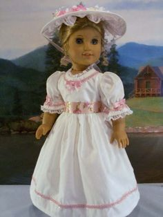 Pink Rose Garden Party fits American Girl Felicity Elizabeth