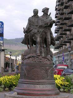 End of the Trail, The Lewis & Clark Monument at the Turnaround in Seaside, Oregon