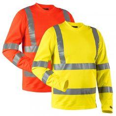 "Warnschutz Shirt HIGH-VIS ""3381"" langarm - BLAKLÄDER® #Blåkläder #warnschutzshirt #warnschutz #warnschutzkleidung"