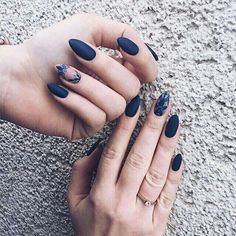 Dark Blue Nails