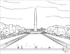 100% free coloring page of The United States Capitol
