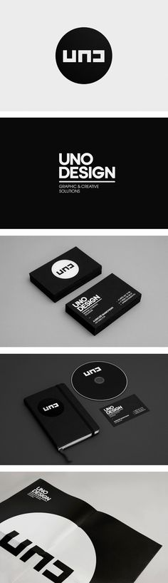 This logo and identity set is striking in its simplicity.