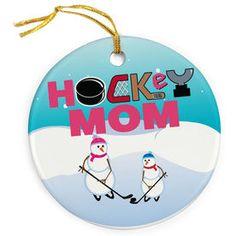 Hockey Porcelain Ornament Mom