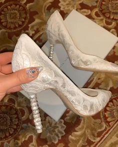 Diy Wedding Shoes, Wedding High Heels, Bridal Heels, Dyeable Wedding Shoes, Bridal Wedges, Indian Shoes, Fancy Shoes, Satin Pumps, Bride Shoes