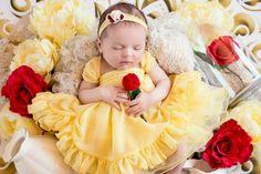 This Disney princess newborn baby photoshoot is adorable