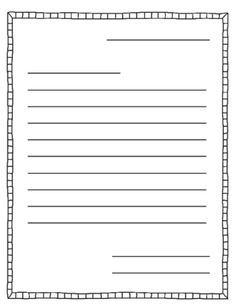 free letter writing outline paper great for a friendly