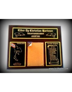 Bangkok, Thailand Mission, Draper 10th Ward, LDS Missionary Plaques