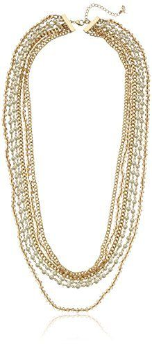 "ABS By Allen Schwartz ""Pastels"" Pastels 6 Row Chain Necklace, 30"" + 3.5"" Extender"