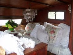 sleeping in small camper