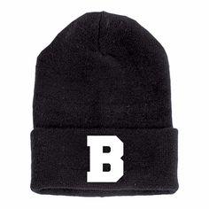 TrueSpin Buchstaben Beanie B schwarz ★★★★★