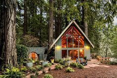 A frame cabin, a frame house, triangle design, minimal home, cabins and Cabins In The Woods, House In The Woods, House In The Forest, Forest Home, The Cabin, Cozy Cabin, Cozy House, A House, A Frame Cabin