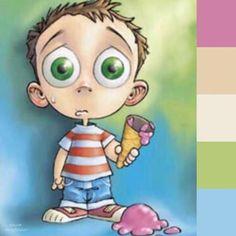 30 de abril, día del niño, niño a quien se le cayó el helado