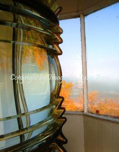 Reflection of Sturgeon Lighthouse in Michigan