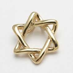 Elegant curved Star of David Pendant
