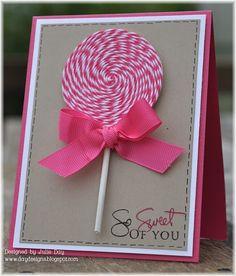 baker's twine lollipop card! love it!