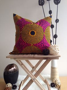 African print pillow. Looks great, I think.