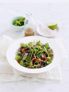 Under 300 cals - Thai beef salad. via Michelle Bridges Healthy Eating Recipes, Healthy Tips, Cooking Recipes, Keeping Healthy, Healthy Food, Michelle Bridges, Thai Beef Salad, Asian Recipes, Ethnic Recipes