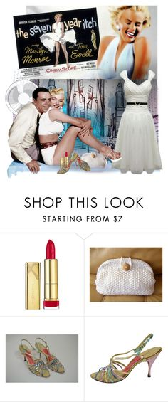 """""""Marilyn A Classic"""" by bb60477 ❤ liked on Polyvore featuring Max Factor, 7 For All Mankind and Schiaparelli"""