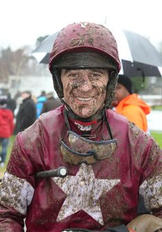 It can be a muddy business! Davy Russell, Jan 2012