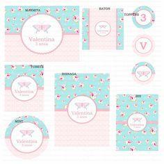 Kit digital para imprimir Borboleta Provençal Azul e rosa floral Os kits digitais da Charme Papeteria são personalizados, criados especialmente para você. Você pode escolher um tema do nosso portfólio ou um tema novo, mediante confirmação de disponibilidade. Nosso portifólio: http://www.elo7.com.br/kits-digitais/al/3BA8E O cliente pode optar por uma das opções de compra: PACOTE 1: Kit com 5 itens - R$ 50,00 PACOTE 2: Kit com 7 itens - R$ 68,00 PACOTE 3: Kit com 10 itens - R$ 93,00 ...