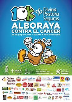 Cartel oficial 10K Alboraya contra el cáncer 2014