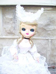 1977 Big Eyed Bradley Doll / Wedding Doll / by MaryAliceFeltLikeIt, $22.00