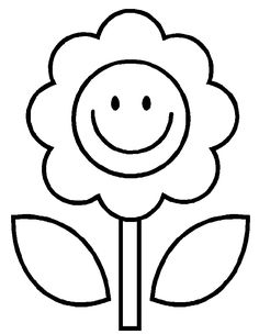simple flower coloring page flower coloring pages kids coloring day - Colouring Pages For Kids To Print