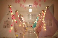 Tents for a little girl party or room