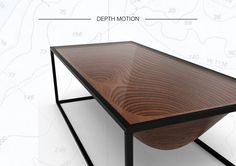 Heights and Depths Coffee Table by Maxence Derreumaux, via Behance