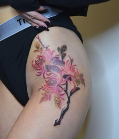 Tattoo Toronto, Watercolour Tattoos, Old Paintings, Blackwork, Ink, Floral, Color, Flowers, Colour