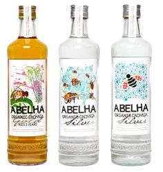 Abelha is a handcrafted, organic cachaca with a full natural flavour and our labels reflect this! Each label features a uniquely commissioned illustration alongside our trademark handcut logo.