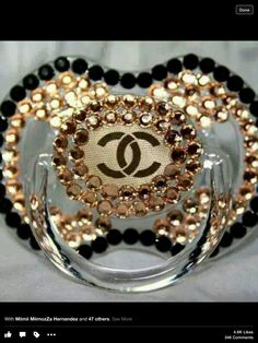 For the baby that has everything ! A Chanel Pacifier ! Baby Swag, Bling Pacifier, Pacifier Holder, Cute Babies, Baby Kids, Baby Bling, Bling Bling, Everything Baby, Baby Girl Fashion