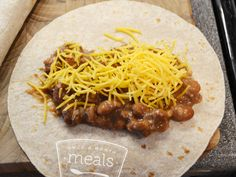 Diet Bean and Cheese Burritos Once A Month Meals - OAMC - Weight Watchers Points Plus