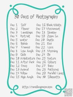 30 Tage Foto-Challenge, auf die Plätze, fertig, auslösen! :)