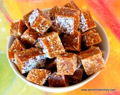 Recipe APRICOT SQUARES Healthy 2 ingredient by Mum the chef, learn to make this recipe easily in your kitchen machine and discover other Thermomix recipes in Desserts & sweets. Paleo Sweets, Paleo Dessert, Gluten Free Desserts, Vegan Desserts, Thermomix Desserts, Chef Recipes, Sweets Recipes, Raw Food Recipes, Baby Recipes