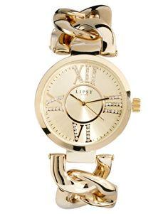 Lipsy Gold Alloy Bracelet Watch
