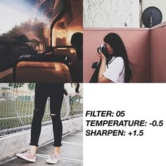 Discover recipes, home ideas, style inspiration and other ideas to try. Photography Filters, Tumblr Photography, Photography Editing, Feed Vsco, Fotografia Vsco, Best Vsco Filters, Fotografia Tutorial, Vsco Themes, Photo Editing Vsco