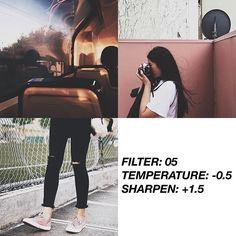 Pinterest: @startariotinme VSCO Filter: 05| Temperature: -0.5| Sharpen: +1.5 #vsco#vscocam#vscofilter