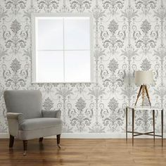Welcome to Laura Ashley where you can shop online for exclusive home furnishings and womenswear_EN Childrens Room Decor, Lounge Decor, Interior, Home Furnishings, Grey And White Wallpaper, Damask Decor, Home Decor, Room Decor, Furnishings