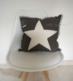 Kissenhülle Cushion Stern Star 100% BW Kissenbezug Stern Kissen Sofa Bett Deko | eBay