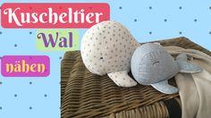 Kuscheltier Wal/ Plüschtier/ Stofftier für dein Baby selber nähen-Einfac...