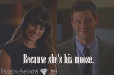 """You're kinda my moose"" <3"